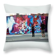 Artists Record The Moment Throw Pillow