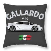 Lamborghini Gallardo Throw Pillow