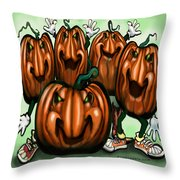Pumpkin Party Throw Pillow