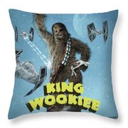 King Wookiee Throw Pillow by Eric Fan