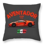 The Lamborghini Aventador Throw Pillow