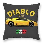 The Lamborghini Diablo Throw Pillow
