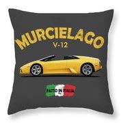 The Lamborghini Murcielago Throw Pillow