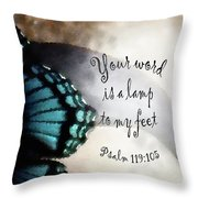 Lamp To My Feet Throw Pillow