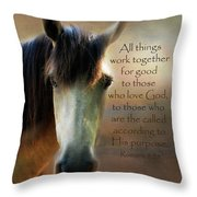 If Horses Could Talk - Verse Throw Pillow