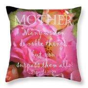 Roses - Verse Throw Pillow