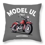 Harley-davidson Ul 1941 Throw Pillow