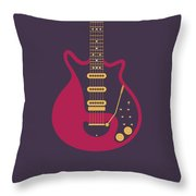 Red Special Guitar - Black Throw Pillow