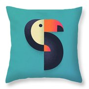 Toucan Geometric - Single Throw Pillow
