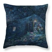 Trapp Family Lodge Cabin Sunrise Stowe Vermont Throw Pillow
