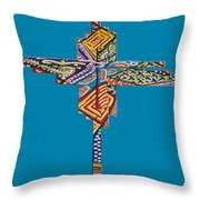The Abstract Cross Throw Pillow