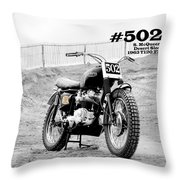 No 502 Mcqueen Desert Sled Throw Pillow
