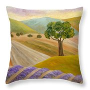 Lavender Sundown Throw Pillow