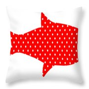The Red Polka Dot Fish Throw Pillow