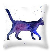 Space Cat Throw Pillow