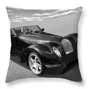 Morgan Aero 8 Black And White Throw Pillow