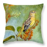 Singing Your Heart Out Throw Pillow by Angeles M Pomata