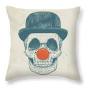 Dead Clown Throw Pillow