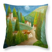 All Is Calm All Is Bright Throw Pillow by Angeles M Pomata