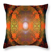 Central Sun Throw Pillow