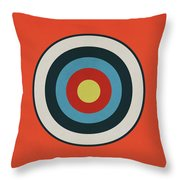 Vintage Target - Orange Throw Pillow