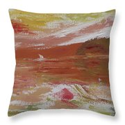 Birds And Sailboat In Paradise Throw Pillow