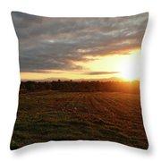 Mount Mansfield September Sunrise Seven Throw Pillow