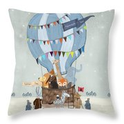 Little Adventure Days Throw Pillow