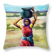 Water Carrier Throw Pillow