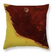 Woman In Moonlight Throw Pillow