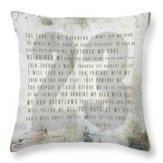 Psalm 23 Light Throw Pillow