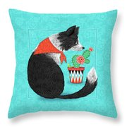 C Is For Collie Throw Pillow