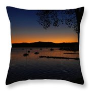 Nautical Sunrise Mount Mansfield From Malletts Bay Throw Pillow