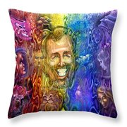 Self Portrait As Interwoven Spectrum Of Emotions Throw Pillow by Kevin Middleton