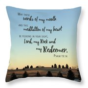 Meditation Of My Heart Throw Pillow