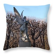 Girded By Trees, Light And An Angel Throw Pillow