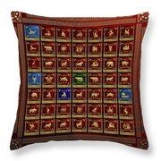 Standards Of Roman Imperial Legions - Legionum Romani Imperii Insignia Throw Pillow