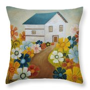 Fenced By The Joy Throw Pillow by Angeles M Pomata