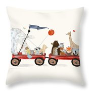 A Little Breeze Throw Pillow