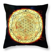 Creative Force Throw Pillow by Bee-Bee Deigner