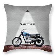 Triumph Trophy Tr6 Throw Pillow