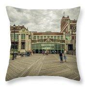 Asbury Park Convention Hall Throw Pillow