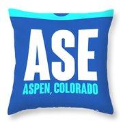 Ase Aspen Luggage Tag II Throw Pillow
