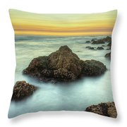 Asilomar Sunset Throw Pillow