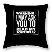 Aspiring Writer Gift Throw Pillow