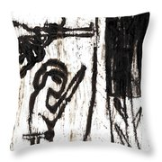Assassin After Mikhail Larionov Black Oil Painting 10 Throw Pillow