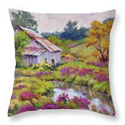 Aster Time Throw Pillow