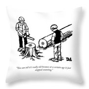 At A Certain Age Throw Pillow