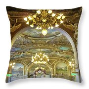At Le Train Bleu Throw Pillow