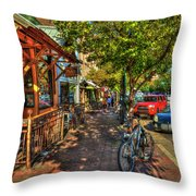 College Town Athens Georgia Downtown Uga Athens Georgia Art Throw Pillow